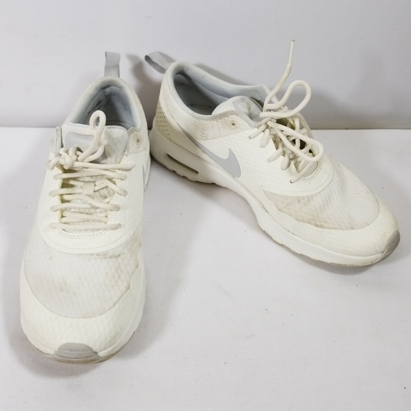 dea6f8aaa3 Nike Air Max Thea White Lace Up Sneakers Size 8.5.  M_5ae21bdbcaab4487926dcbaa